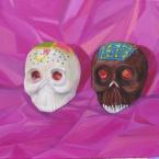 Totenschädelchen aus Zucker und Chokolade