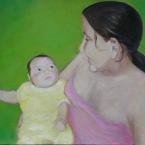 Portrait einer Jungen Mutter