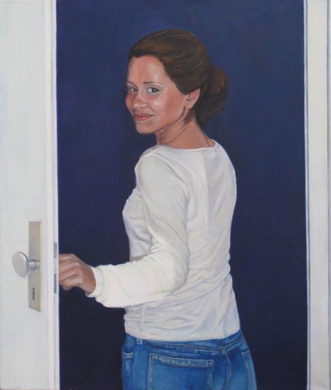 Sie geht aus – Tempera-Öl auf Leinwand 100 x 85 cm 2006