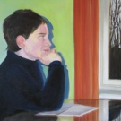 Hausaufgaben – Tempera-Öl auf Leinwand 40 x 50 cm 2006