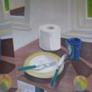 Frühstück-Tempera-Öl-auf-Papier-50-x-46-cm-2007